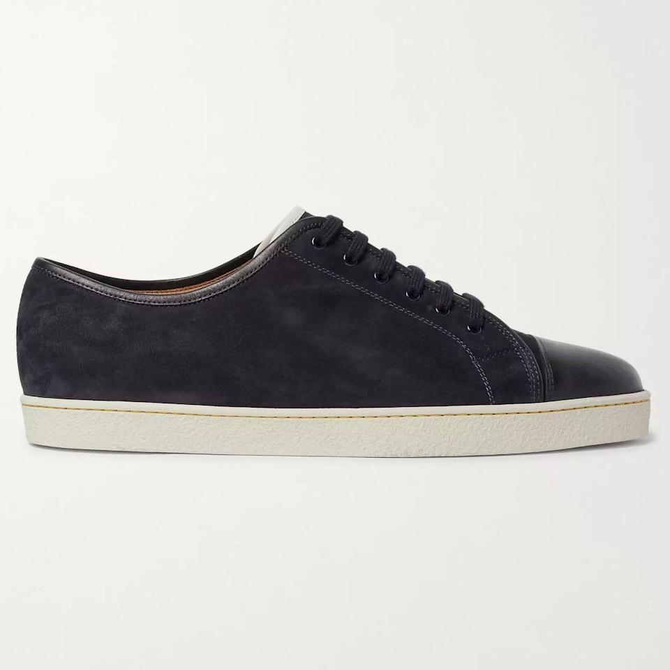 """<p><strong>Levah Sneakers</strong></p><p>mrporter.com</p><p><strong>$750.00</strong></p><p><a href=""""https://go.redirectingat.com?id=74968X1596630&url=https%3A%2F%2Fwww.mrporter.com%2Fen-us%2Fmens%2Fproduct%2Fjohn-lobb%2Fshoes%2Flow-top-sneakers%2Flevah-cap-toe-suede-and-leather-sneakers%2F4146401443154247&sref=https%3A%2F%2Fwww.esquire.com%2Fstyle%2Fmens-accessories%2Fadvice%2Fg2538%2Fluxury-sneaker-brands-worth-spending-money%2F"""" rel=""""nofollow noopener"""" target=""""_blank"""" data-ylk=""""slk:Shop Now"""" class=""""link rapid-noclick-resp"""">Shop Now</a></p><p>The English brand making some of the very best dress shoes in the game also makes sneakers that stand up to the Lobb reputation in terms of quality, aesthetics, and general timelessness. These Levah sneakers aren't made for stunting on Instagram. Instead, they're the kind of shoes you wear to a party IRL, and then get ready for everyone to ask you, """"Where'd you get those,"""" before the night is over.</p>"""