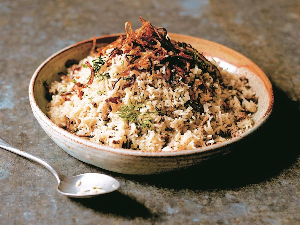 <p>Be prepared: Eating a balance of protein and carbohydrates is important while fasting – and a curry such as Asma Khan's Keema Sau Pulao is a great source of protein that can be prepared with minimum effort</p> (Asma Khan)