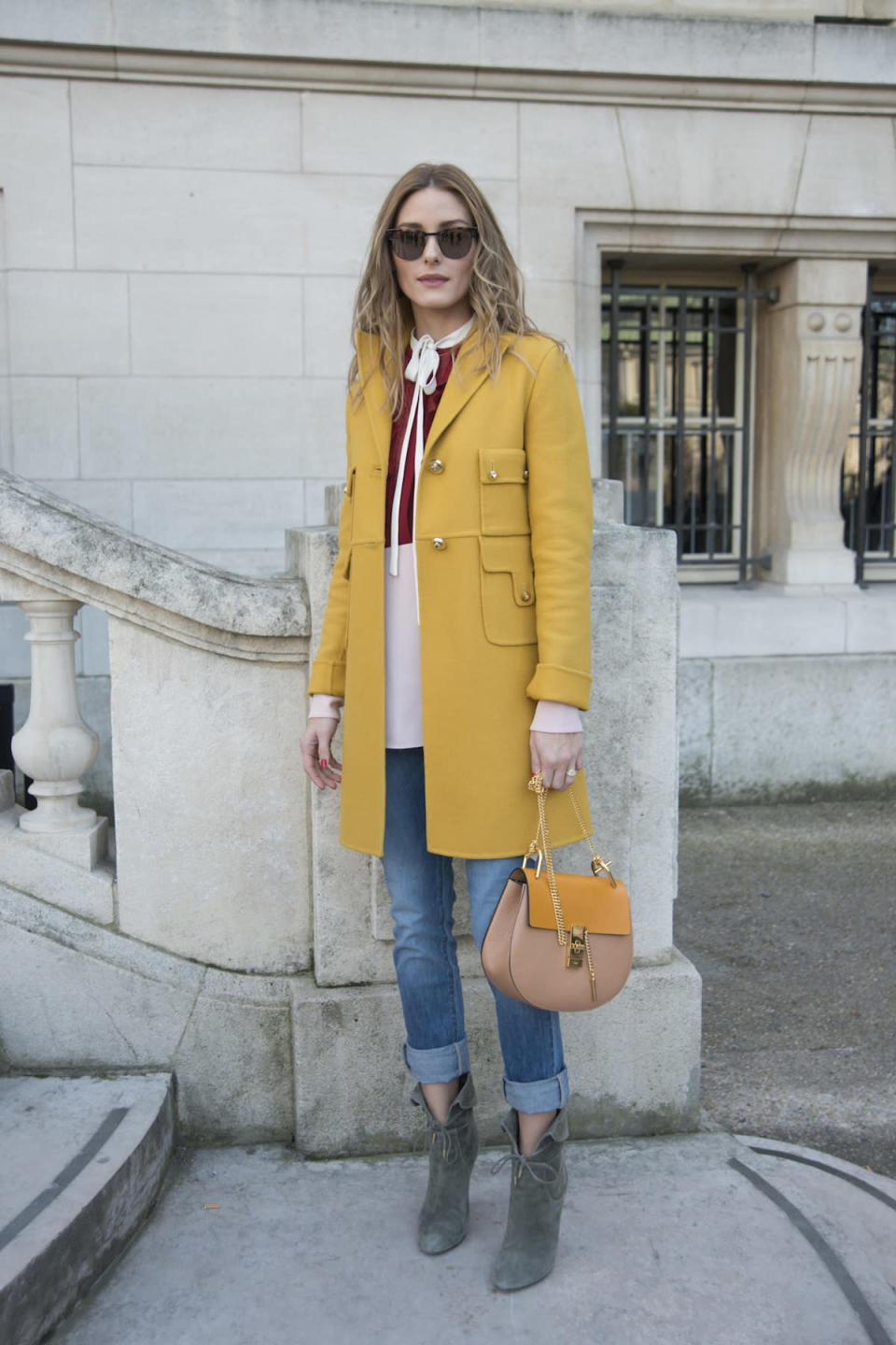 <p>Olivia Palermo at the Chloé Fall/Winter 2016 show in Paris. (Photo: Getty Images) </p>