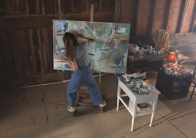 "Claire's barn studio serves as ""her womb, a nurturing space where she could create her paintings,"" says Dolby."