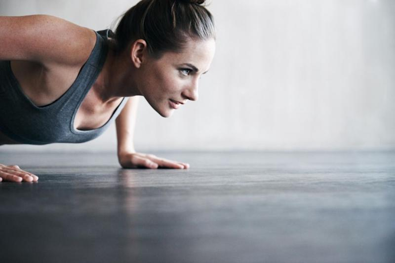 Less jumping and more focus on core exercises are best for big boobs. Photo: Getty
