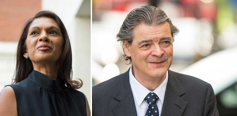 Gina Miller and Rhodri Philipps (PA Images)