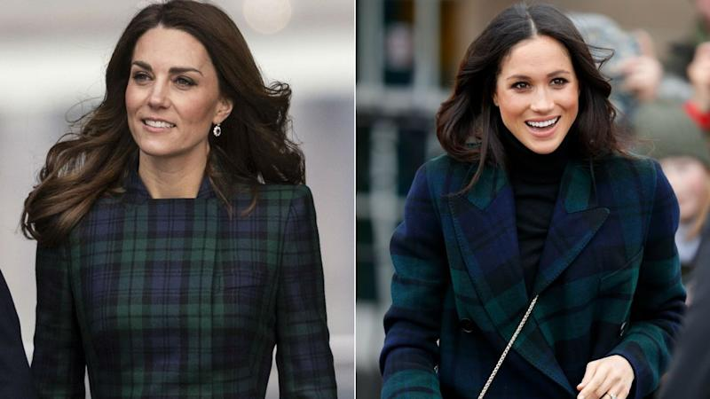Kate Middleton wears tartan coat dress in Dundee
