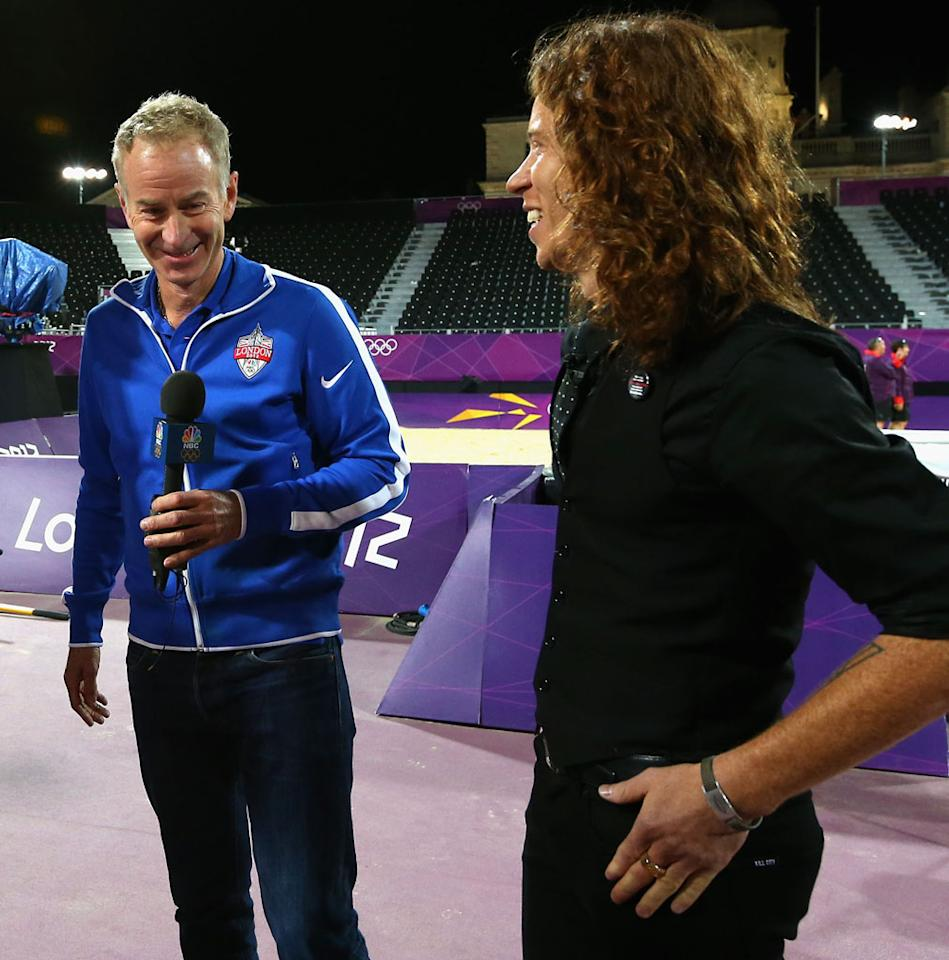 """<p><b>4. """"What a Racket""""</b><br> The real star of the Olympics for us has been sportscaster John McEnroe. His interviews have been fun, and we can't get enough of him goofing around with athletes. We'd love a daily (or weekly) talk show where McEnroe goes out and interviews various people ... with Shaun White as his special correspondent, of course. It's been eight years since his short-lived CNBC show, so let's give Johnny Mac another chance.</p>"""