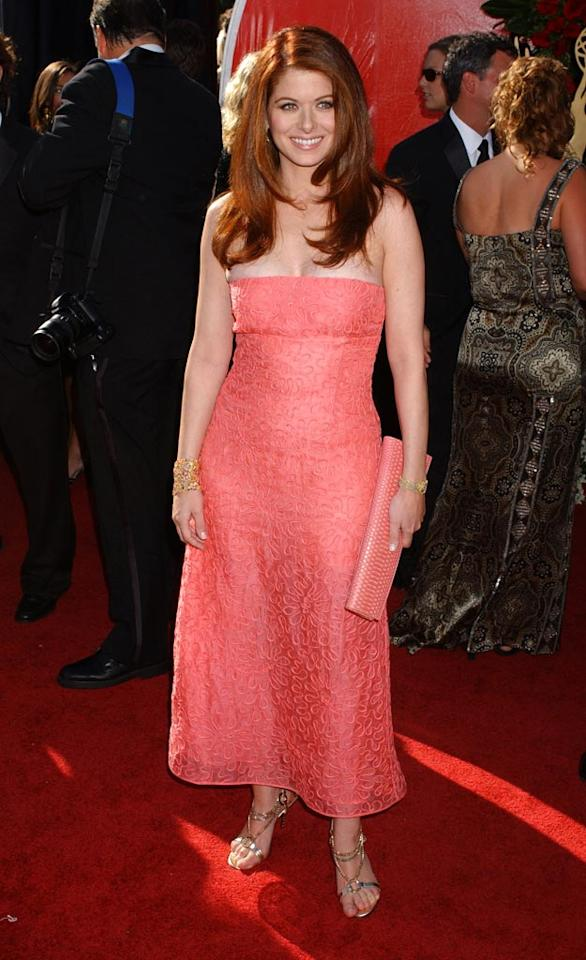 Debra Messing at the 56th Annual Primetime Emmy Awards in Los Angeles.