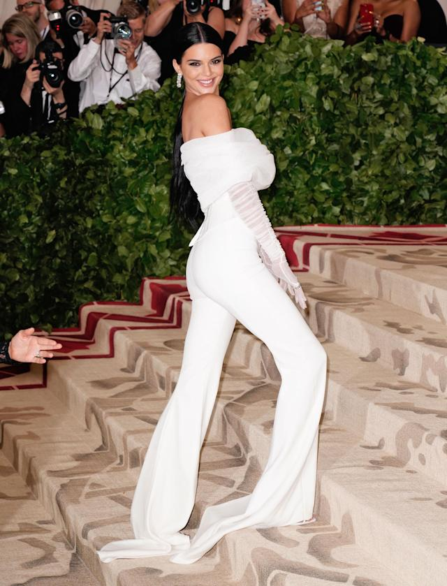 Kendall Jenner at the Met Gala 2018. (Photo: Getty Images)