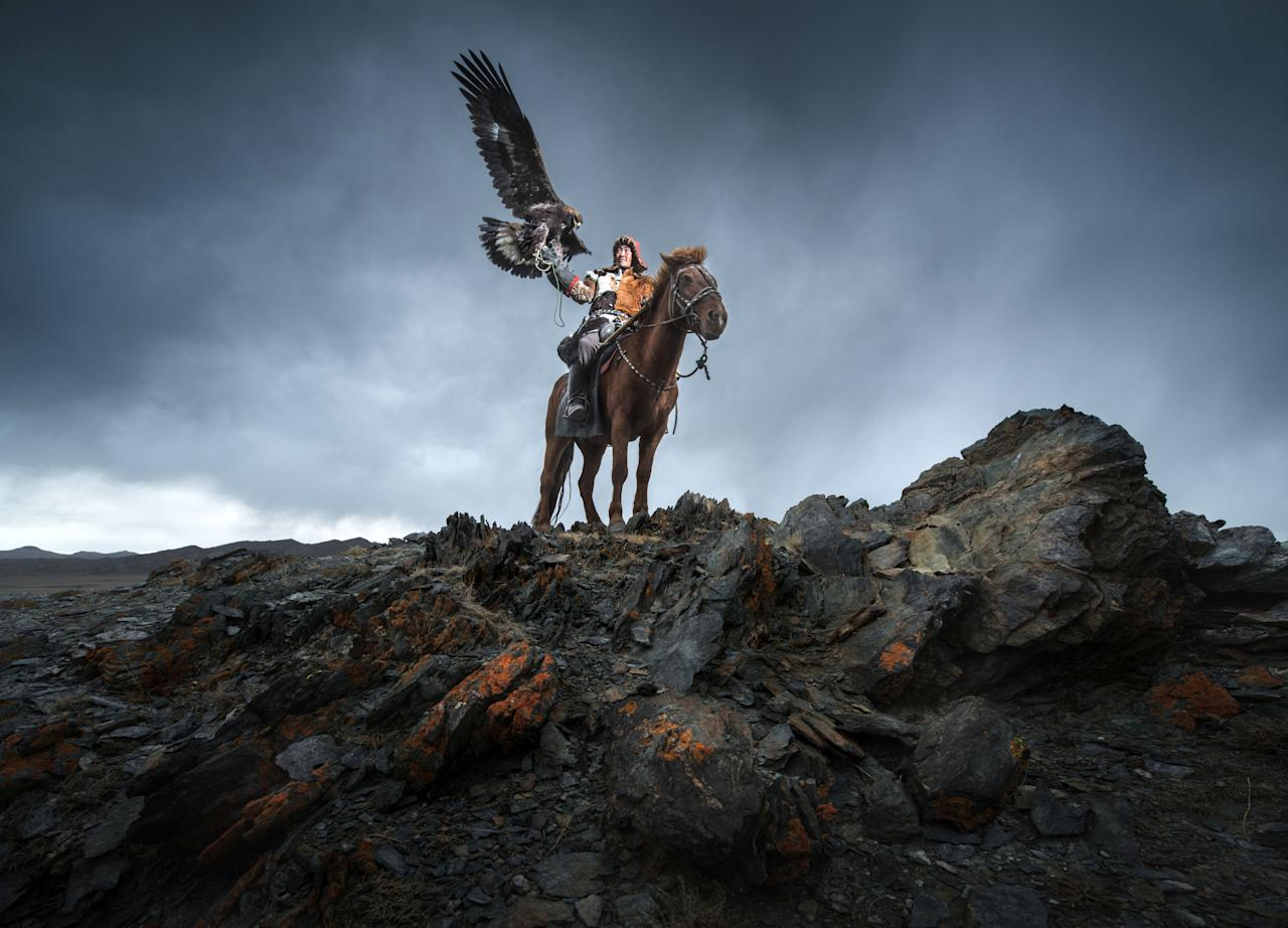 "<p>He said: ""When we were in Western Mongolia, we were greeted as nomads andKazakh eagle hunters."" (Photo: Daniel Kordan/Caters News) </p>"