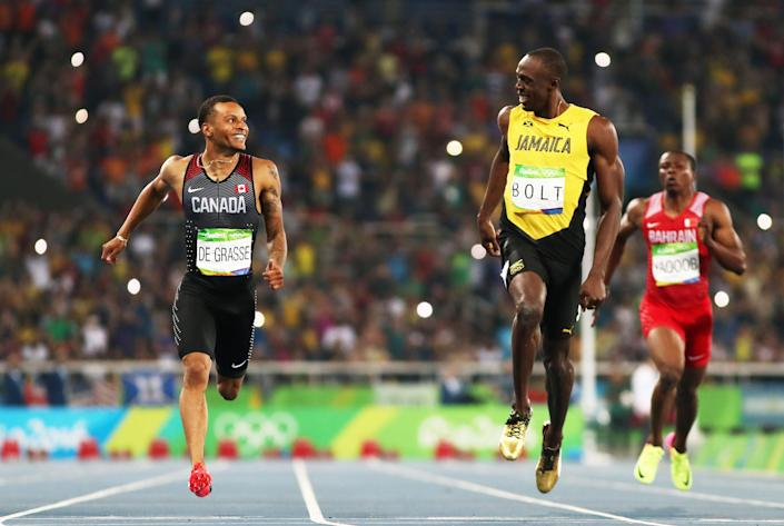 'It's pretty cool to line up against the fastest human being ever' (Getty Images)