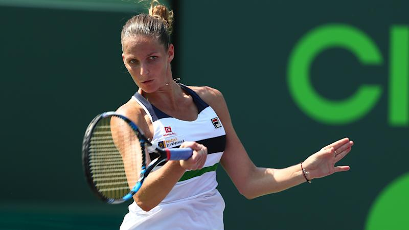 Pliskova, Cibulkova through at rain-interrupted Miami Open