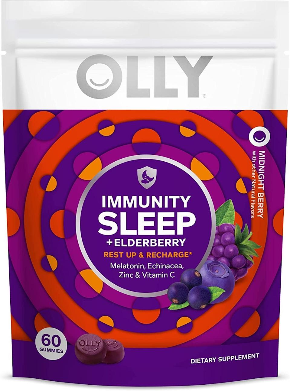 <p>We love a product that does double duty, and this <span>Olly Immunity Sleep + Elderberry Melatonin Gummy</span> ($23) is just that. Give yourself the gift of resting and recharging all in a yummy gummy.</p>