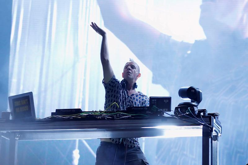 Fatboy Slim performing live earlier this year