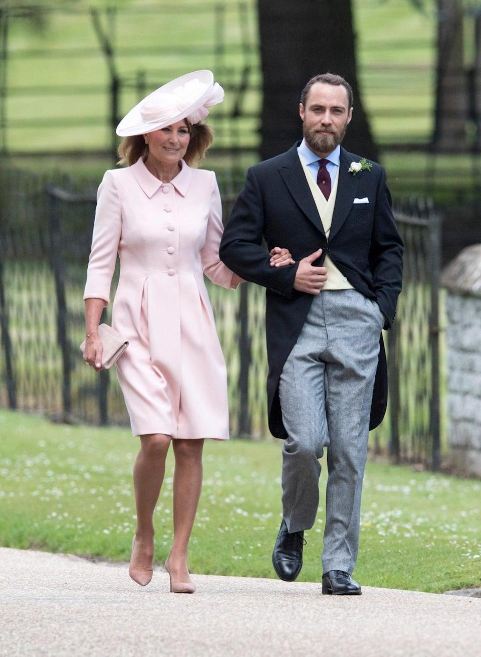 James Middleton with his mother Carole (Arthur Edwards/The Sun/PA) (PA Archive)