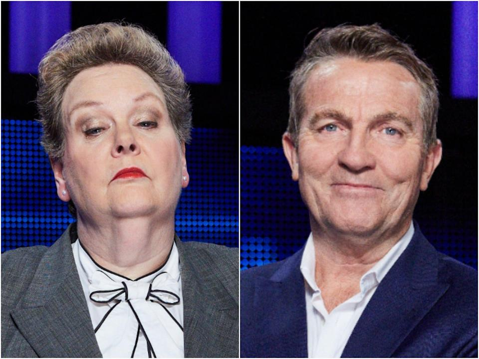 Anne Hegerty and Bradley Walsh, stars of The Chase (ITV)