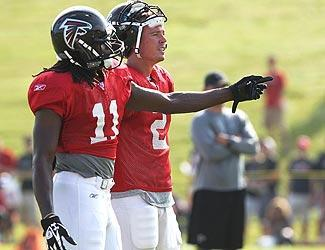 The Falcons wanted a rookie who wouldn't take long to grasp the offense. Quarterback Matt Ryan says Julio Jones (11) fits the order