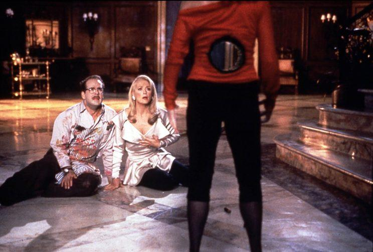Bruce Willis and Meryl Streep gawk at Goldie Hawn's bullet wound in Death Becomes Her