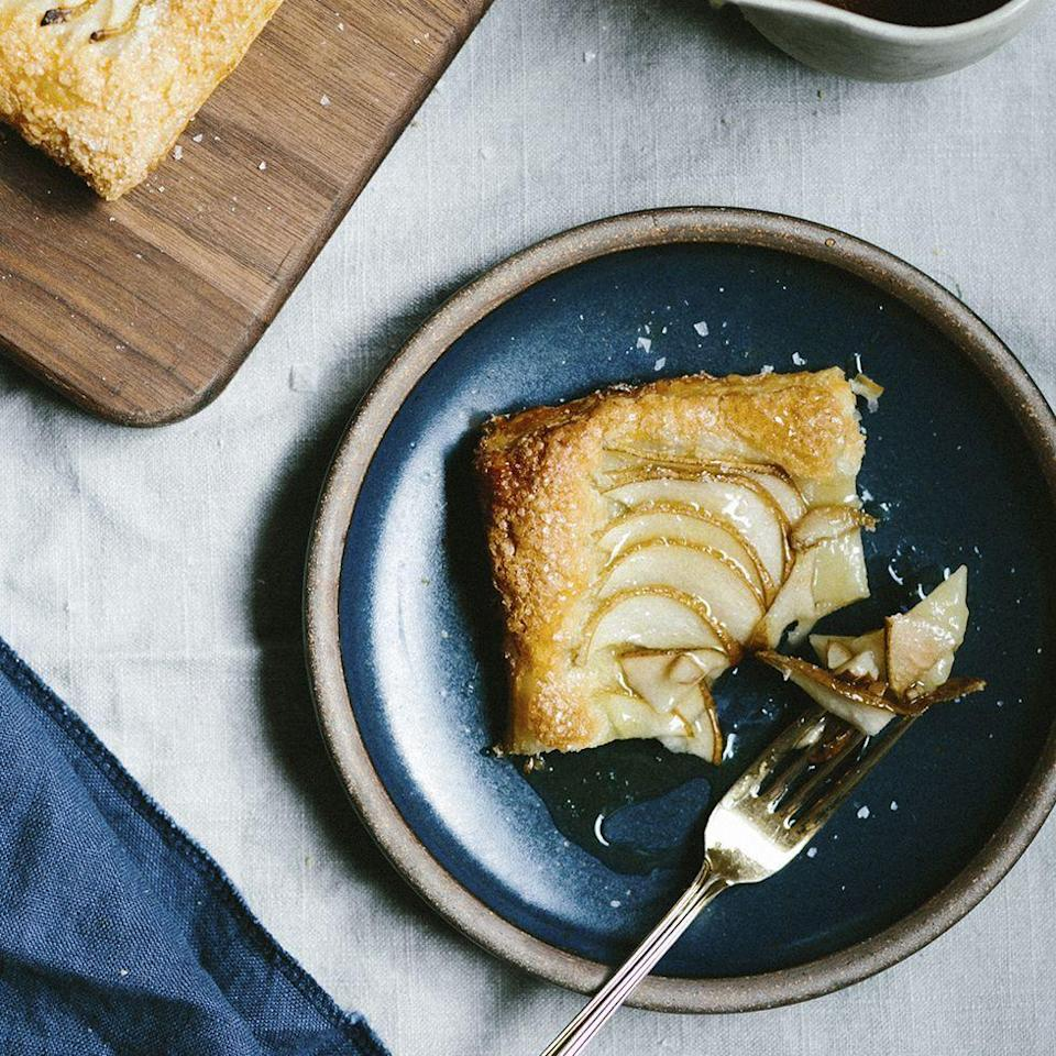 """<p>And we mean <em>easy</em>. Frozen puff pastry plus a 4-ingredient filling means dessert will be on the table in no time.</p><p><em><a href=""""https://www.womansday.com/food-recipes/food-drinks/a29133309/easiest-pear-tart-with-maple-caramel-recipe/"""" rel=""""nofollow noopener"""" target=""""_blank"""" data-ylk=""""slk:Get the recipe from Woman's Day »"""" class=""""link rapid-noclick-resp"""">Get the recipe from Woman's Day »</a></em></p>"""