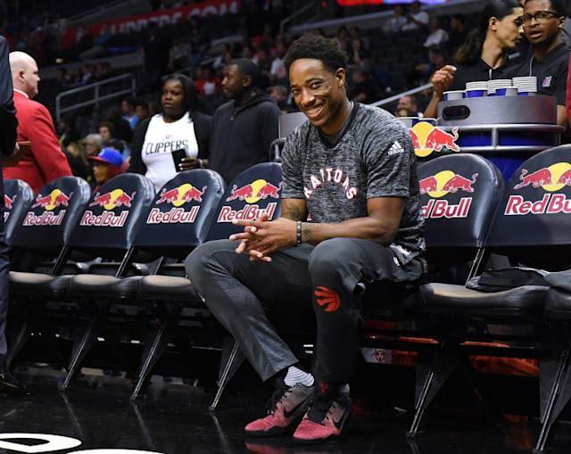 DeMar DeRozan is going to be in Toronto for a while. (Getty Images)