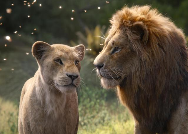 Beyoncé Knowles-Carter voices Nala and Donald Glover is Simba in <em>The Lion King</em>. (Photo: Walt Disney Studios Motion Pictures / courtesy Everett Collection)