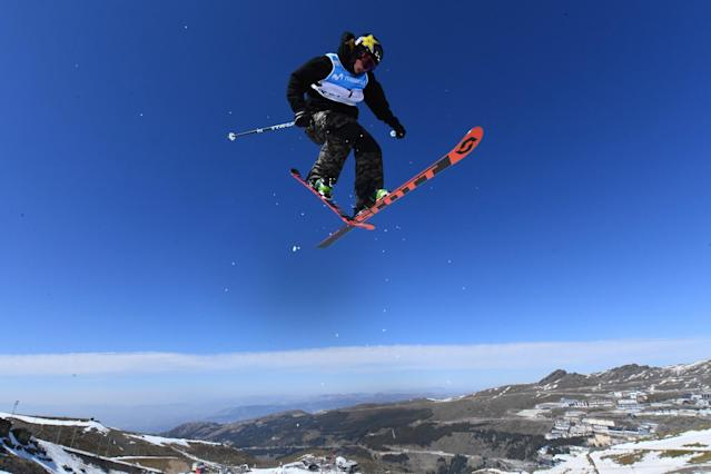 <p>Mcrae Williams of the United States competes in the Men's Slopestyle final during day twelve of the FIS Freestyle Ski & Snowboard World Championships in Sierra Nevada, Spain. </p>