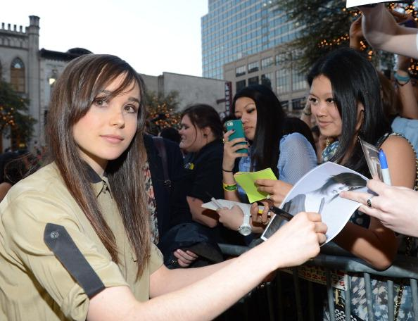Actress Ellen Page attends the premiere of 'The East' during the 2013 SXSW Music, Film + Interactive Festival at the Paramount Theatre on March 16, 2013 in Austin, Texas.