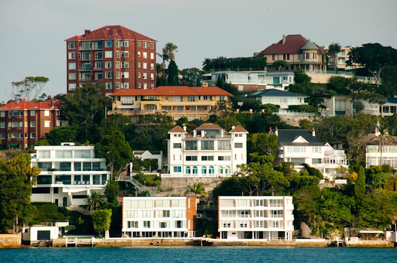 Pictured: million-dollar properties on Sydney harbour. Image: Getty