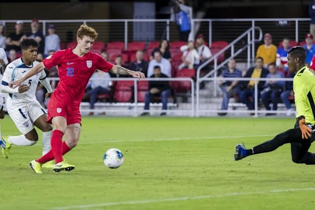 Teenager Josh Sargent scored twice to help the United States to a 4-0 win over Cuba (AFP Photo/Scott Taetsch)
