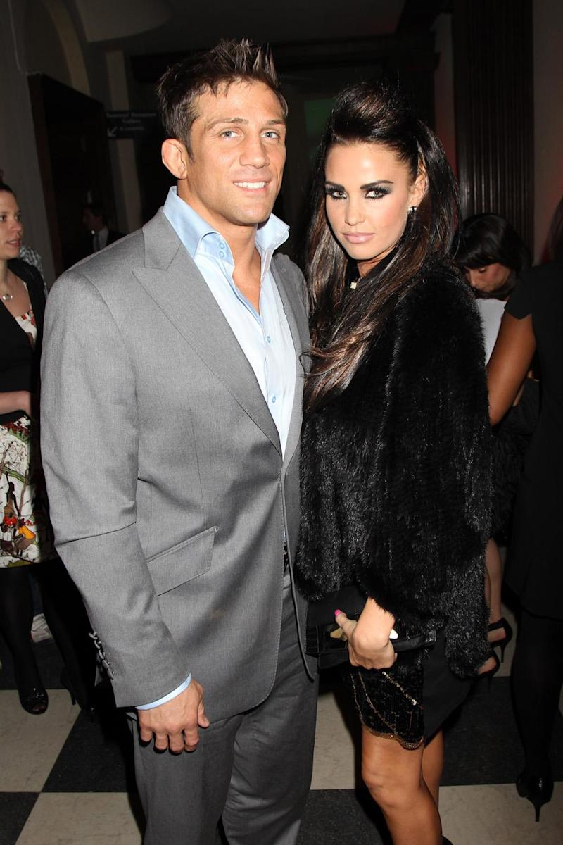 Happier times: Alex Reid and Katie Price pictured together in 2010 (Getty Images)