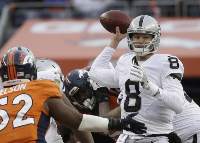 Quarterback Connor Cook will make his first career start for the Oakland Raiders in their first postseason game in 14 years. (AP)