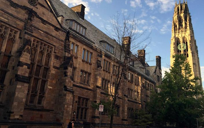 Harkness Tower on the campus of Yale University in New Haven, Conn - AP