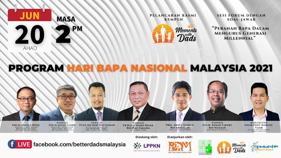 Tune in to Better Dads Malaysia's Facebook Live to listen to the forum. — Picture via Jason Leong