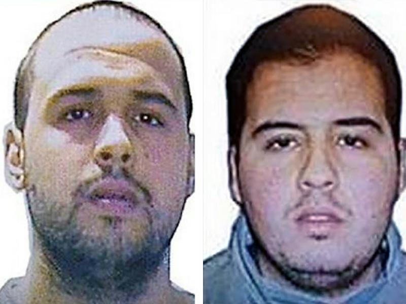 Khalid (L) and Ibrahim (R) El Bakraoui, the two Belgian brothers identified as the suicide bombers who struck Brussels on March 22, 2016 (AFP Photo/-)