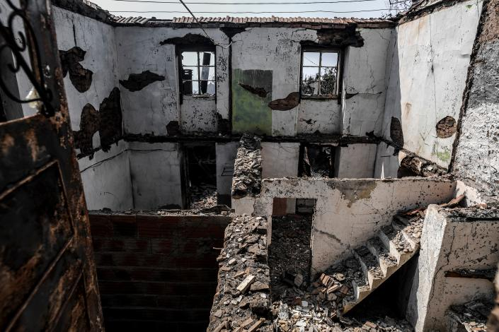Picture shows ruins of a house after a wildfire in Roda village, Macao, in central Portugal on July 22, 2019. (Photo: Patricia De Melo Moreira/AFP/Getty Images)