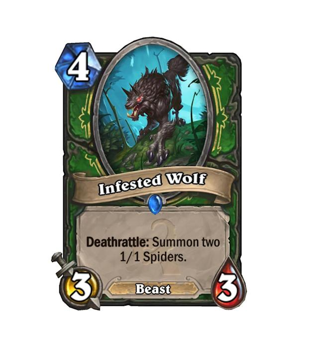 <p>Who knew Wolves could be infested with spider eggs? Of course, we don't know everything about what the Old Gods have done to our friends in the Warcraft universe, so anything is possible.</p>