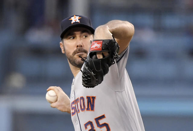 Justin Verlander isn't happy with the way things have gone in free agency. (AP Photo)
