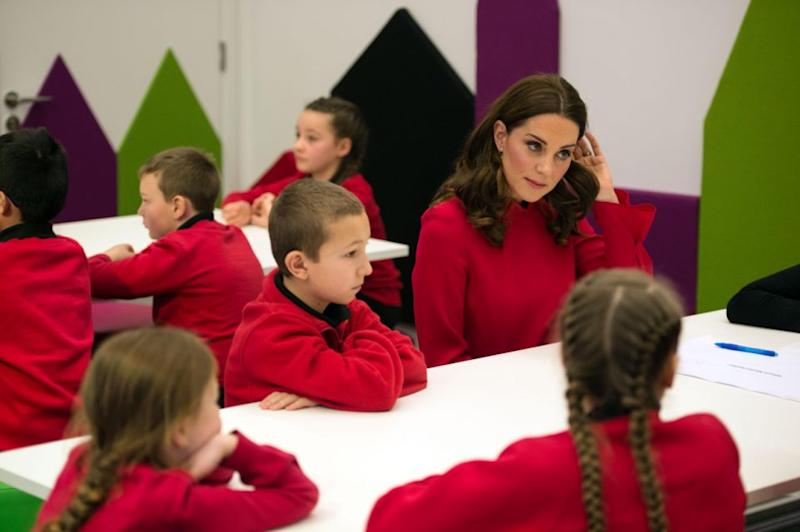The mum-of-two is no doubt used to dealing with disinterested kids. Photo: Getty