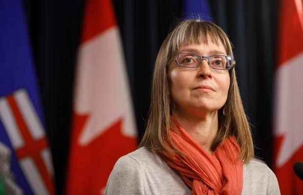Chief Medical Officer of Health Dr. Deena Hinshaw updated Albertans on the province's response to COVID-19 Thursday.  (Jason Franson/The Canadian Press - image credit)