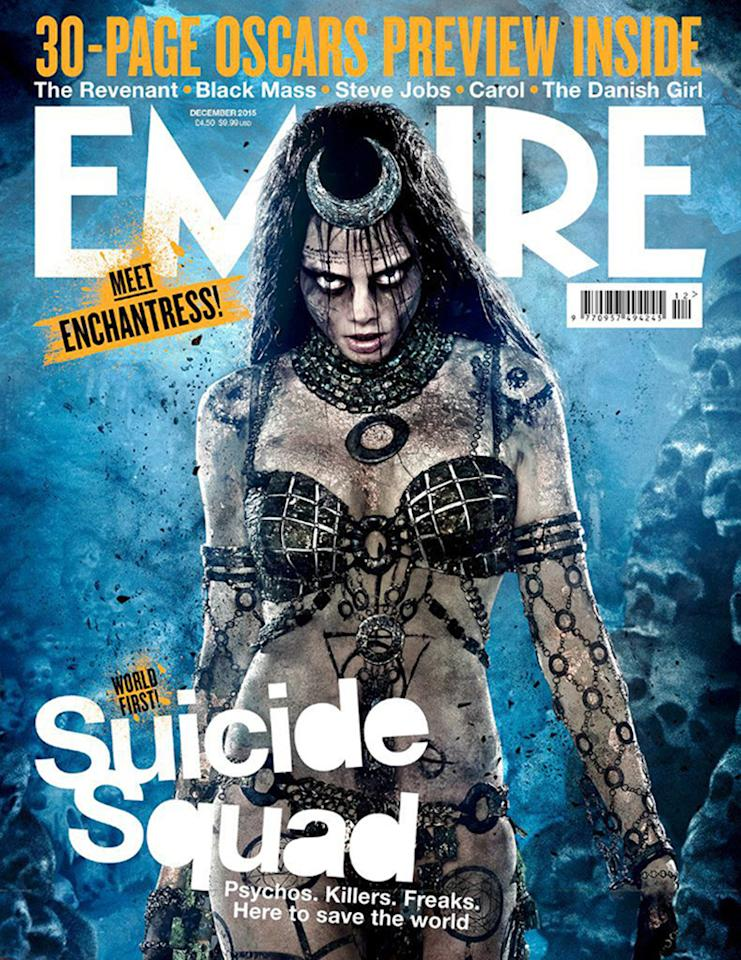 <p>Cara Delevingne as the ancient sorceress on the cover of 'Empire.' (Empire)</p>