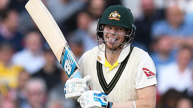 Pictured here, Steve Smith during the 2019 Ashes series against England.