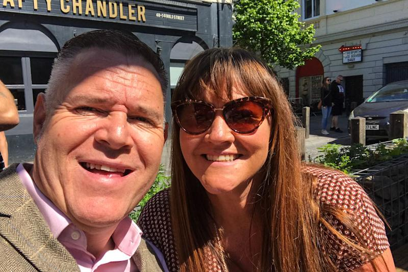 David Anderson pictured with a woman. Mr Anderson is a Liverpool FC supporter and travelled to the city to watch the Champion's League final but on arriving at the Albert Dock River View Apartments he was appalled by the condition of his accomodation.
