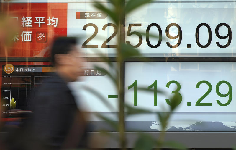Global shares down as US economy takes center stage