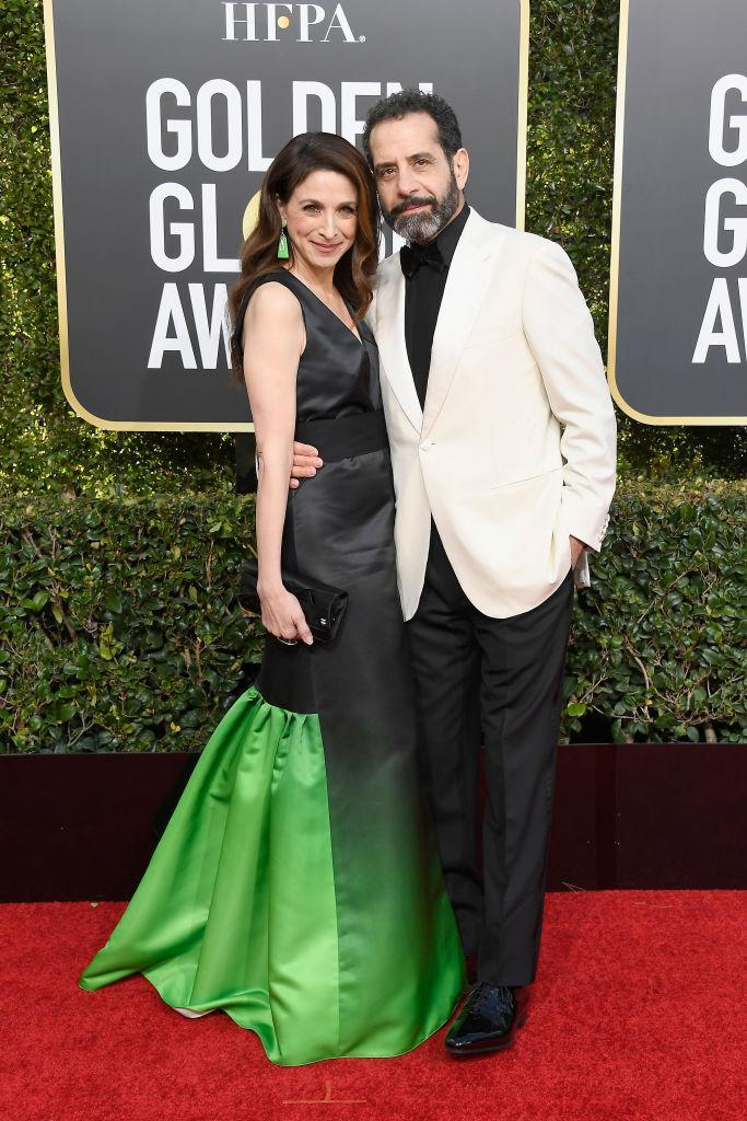 <p>Marin Hinkle and Tony Shalhoub attends the 76th Annual Golden Globe Awards at the Beverly Hilton Hotel in Beverly Hills, Calif., on Jan. 6, 2019. (Photo: Getty Images) </p>