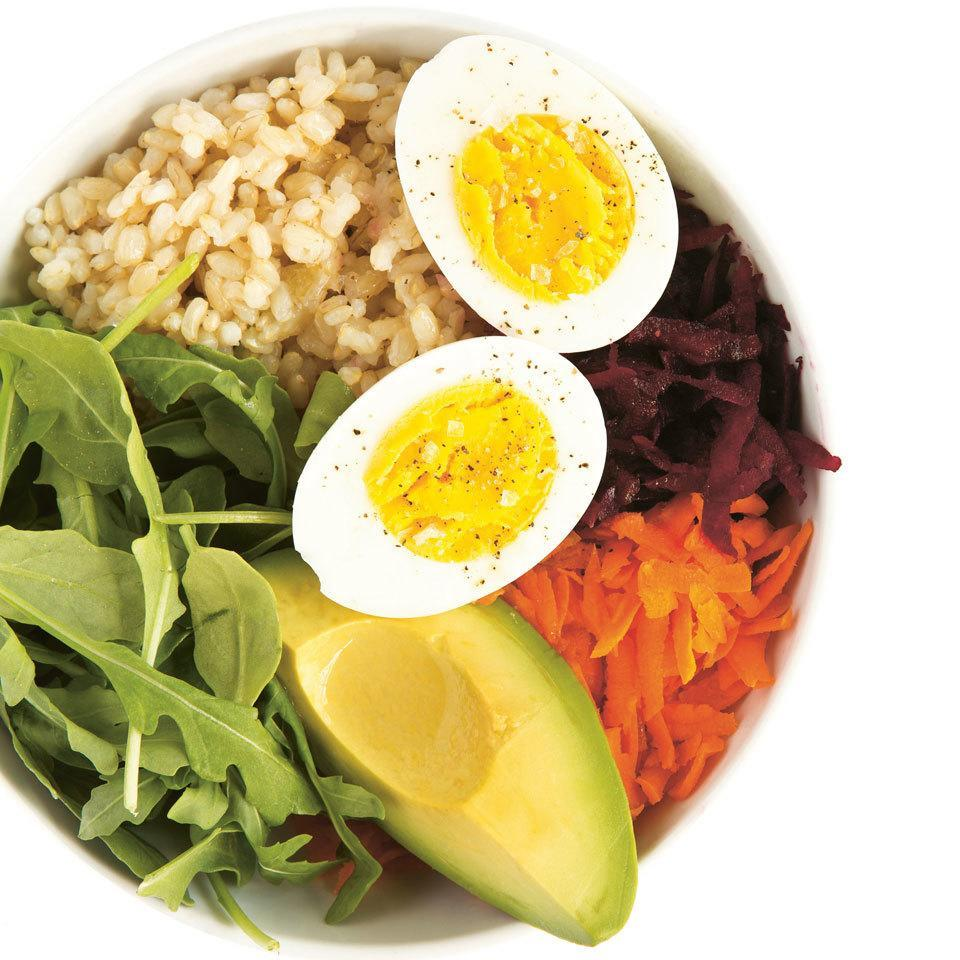 <p>Start the day off right with a healthy combo of brown rice, beets, avocado, arugula and eggs in this delicious breakfast bowl recipe from Bobbi Brown's book Beauty from the Inside Out. Prep everything the evening before (minus the eggs) to make the morning a breeze. (Recipe developed by Lily Kunin for Bobbi Brown's Beauty from the Inside Out, Chronicle Books, copyright 2017.)</p>