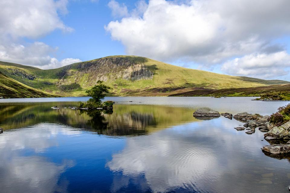 A lake in the Southern Uplands of Scotland.