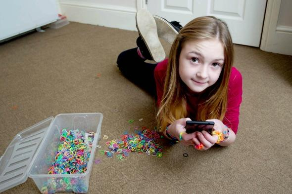 Trinity Groves and her loom bands