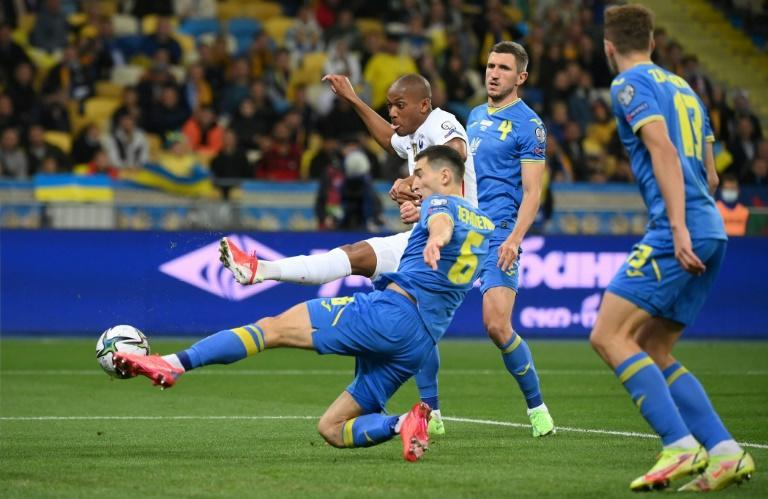 Anthony Martial's first international goal in five years earned France a point against Ukraine (AFP/FRANCK FIFE)