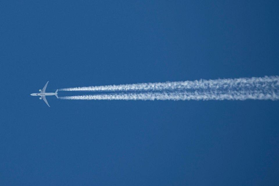 """<p>There's nothing like a government poison conspiracy. Many people have hopped on board with theorists who claim an airplane's exhaust trail, caused by low temperatures in high altitudes, is actually <a href=""""https://www.popularmechanics.com/science/a22328/chemtrails-science/"""" rel=""""nofollow noopener"""" target=""""_blank"""" data-ylk=""""slk:&quot;chemtrails&quot; or chemicals the government"""" class=""""link rapid-noclick-resp"""">""""chemtrails"""" or chemicals the government</a> is trying to secretly spray us with. </p>"""
