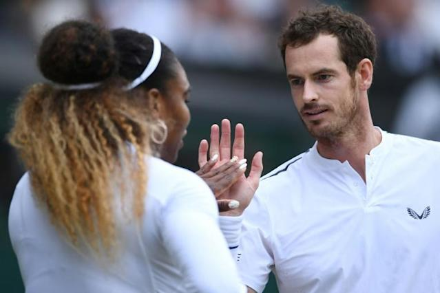 Britain's Andy Murray, who played mixed doubles at Wimbledon with Serena Williams as he continued his return from hip surgery, says he's close to a return to singles action (AFP Photo/Ben STANSALL)