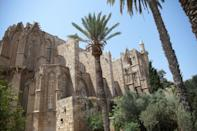 The Lala Mustafa Pasha mosque, also known as the Saint Nicolas cathedral, in the eastern port city of Famagusta, in the self-proclaimed Turkish Republic of Northern Cyprus