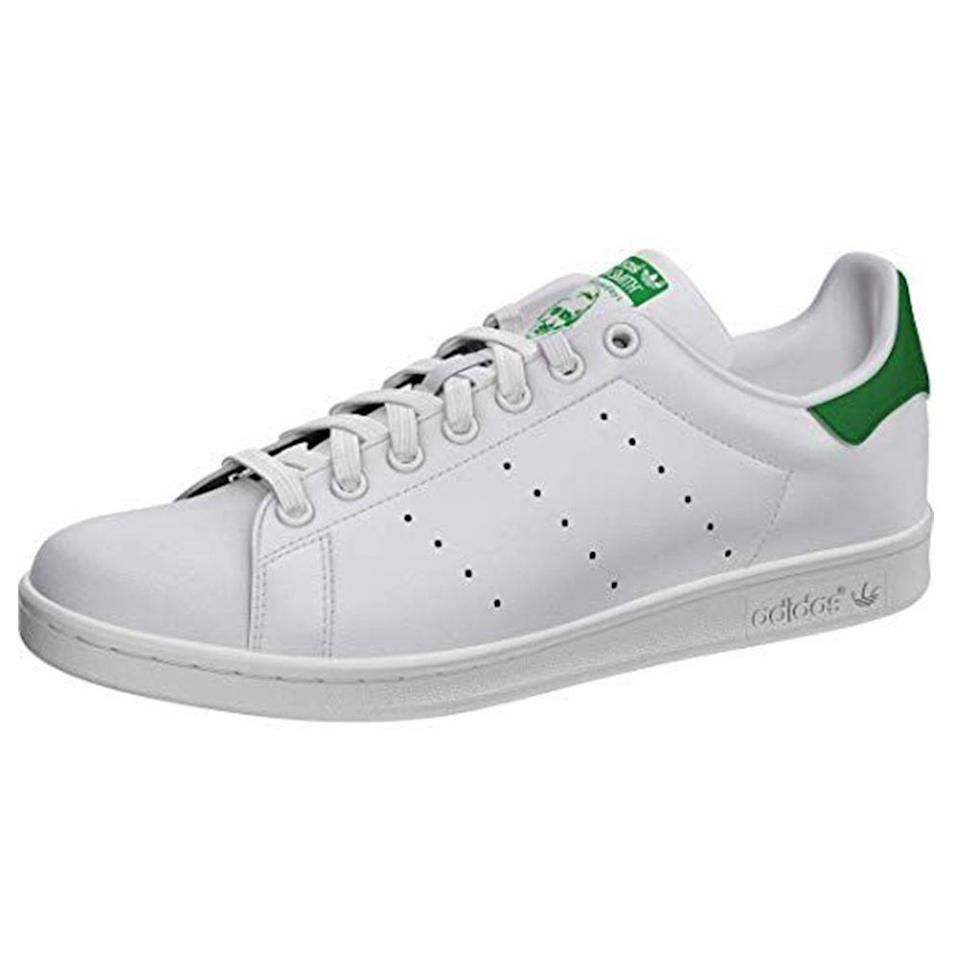"""<p><strong>adidas Originals</strong></p><p>amazon.com</p><p><strong>$49.98</strong></p><p><a href=""""https://www.amazon.com/dp/B00LUIKRHC?tag=syn-yahoo-20&ascsubtag=%5Bartid%7C2139.g.36007474%5Bsrc%7Cyahoo-us"""" rel=""""nofollow noopener"""" target=""""_blank"""" data-ylk=""""slk:BUY IT HERE"""" class=""""link rapid-noclick-resp"""">BUY IT HERE</a></p><p><a href=""""https://www.menshealth.com/style/a19521820/white-sneakers-for-men/"""" rel=""""nofollow noopener"""" target=""""_blank"""" data-ylk=""""slk:The white sneaker"""" class=""""link rapid-noclick-resp"""">The white sneaker</a> takes many forms, but none quite as iconic as the Stan Smith from Adidas. There's no better shoe for refreshing your spring set. And—this can be our little secret—it's actually considerably cheaper on Amazon than other retailers. </p>"""