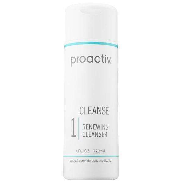 <p>There's a smaller amount of benzoyl peroxide (2.5 percent) in this <span>Proactiv Renewing Cleanser</span> ($25) alongside soothing chamomile and moisturizing hyaluronic acid. That means while tiny exfoliating beads remove dead skin cells and eliminate acne-causing bacteria, skin stays calm, supple, and hydrated.</p>